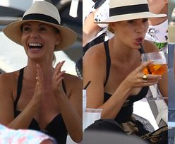 Stylowa Izabela Janachowska ze smakiem pałaszuje lunch na sopockiej plaży (ZDJĘCIA)