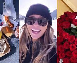 """""""Swojska"""" Joanna Przetakiewicz zagryza ostrygi KIEŁBASĄ na wakacjach w szwajcarskim kurorcie (FOTO)"""