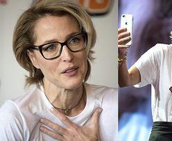 """Gillian Anderson ogłasza, że rezygnuje z biustonoszy. """"Nie obchodzi mnie, czy MOJE PIERSI SIĘGAJĄ PĘPKA!"""""""