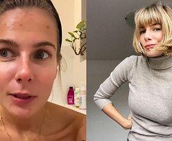 """Marta Wierzbicka pozuje w wannie bez makijażu: """"Coś się dzieje z moim organizmem"""""""