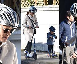 Ciężarna Pippa Middleton szaleje z synkiem na hulajnogach (ZDJĘCIA)