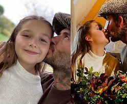 Internauci KRYTYKUJĄ Davida Beckhama za... całowanie w usta 9-letniej córki Harper (FOTO)