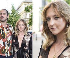 Wyfiokowana Lara Gessler zabrała męża na pokaz mody. Stylowi? (ZDJĘCIA)
