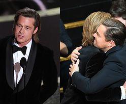 """Oscary 2020: Brad Pitt zadedykował statuetkę dzieciom i znowu zażartował z Leonardo DiCaprio: """"Mogę żerować na twojej sławie każdego dnia"""""""