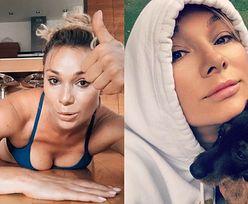 """Nagusieńka Sonia Bohosiewicz zasłania goliznę JAMNIKIEM: """"Ani na kroczek mnie nie odstępuje"""" (FOTO)"""