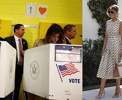 Stylowa Melania Trump maszeruje samotnie do urny wyborczej (ZDJĘCIA)