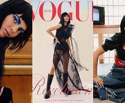 """Kendall Jenner w wersji """"Emo"""" prezentuje  drogocenne kreacje w hiszpańskim """"Vogue'u"""". Wyrobiła się? (ZDJĘCIA)"""