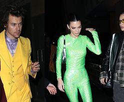 """""""Zielona"""" Kendall Jenner imprezuje z """"żółtym"""" Harrym Stylesem na after party po Brit Awards. Stara miłość nie rdzewieje? (ZDJĘCIA)"""