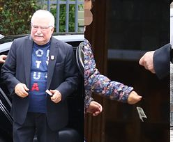 """""""Miłosierny"""" Lech Wałęsa wręcza dziecku dziesięciozłotowy banknot, po czym zatapia się w modlitwie (ZDJĘCIA)"""