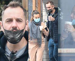 Anna Mucha zabrała Jakuba Wonsa i jego wyswobodzonego spod maseczki wąsa na kawę (ZDJĘCIA)