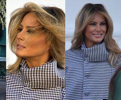 Dostojna i lekko nieobecna Melania Trump chwali się dorodnym drzewkiem i nowym kolorem włosów (ZDJĘCIA)