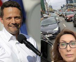 """Anna Kalczyńska robi selfie w korku i... narzeka na ruch. Internauci: """"Słyszała pani o tramwaju?"""""""
