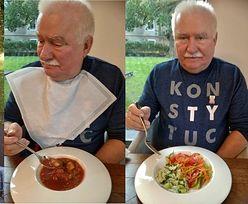 Zmotywowany Lech Wałęsa chwali się dietą: zakwas buraczany, JAJECZNICA Z KALAFIORA I KAWA Z CYKORII (ZDJĘCIA)
