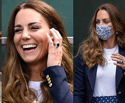 Kate Middleton w spódnicy za 4 tysiące złotych dopinguje tenisistów na kortach Wimbledonu (ZDJĘCIA)