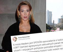 """Zafrasowana Anna Kalczyńska duma na Twitterze o wizerunku osób LGBT: """"A może błędem są AGRESYWNIE SEKSUALNE parady na ulicach?"""""""