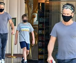 Przykładny tata Colin Farrell maszeruje w towarzystwie Henry'ego Tadeusza do księgarni w Los Angeles (ZDJĘCIA)
