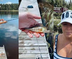 """Sukces Małgorzaty Rozenek: złowiła pierwszą w życiu rybę! """"Wow, ale numer! TO JEST OKOŃ?"""""""