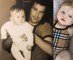"""Joanna Krupa chwali się fotografią z dzieciństwa. Spostrzegawczy fani: """"Córeczka to pani MAŁY KLON"""" (ZDJĘCIA)"""