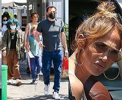 Jennifer Lopez i Ben Affleck maszerują z dziećmi na lunch (ZDJĘCIA)