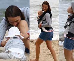 Naturalna Ania Starmach bawi się z córką i chodzi boso po chodniku (ZDJĘCIA)