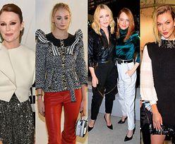 Stylowe gwiazdy oglądają pokaz Louis Vuitton w Nowym Jorku: Julianne Moore, Emma Stone, Cate Blanchett, Sophie Turner (ZDJĘCIA)