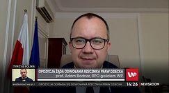 Prof. Adam Bodnar komentuje kontrowersyjną wypowiedź Mikołaja Pawlaka