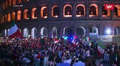 Euro 2020. Eksplozja radości. Tak Włosi w Rzymie świętowali zwycięstwo
