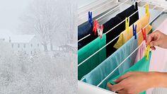 Nie susz zimą w domu prania