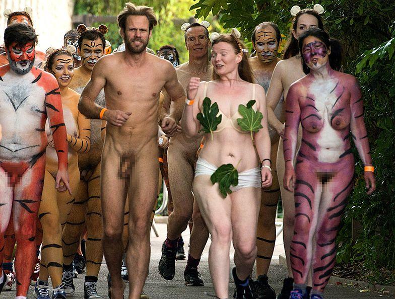 Protest w bronze dzikich tygrysów w Londynie