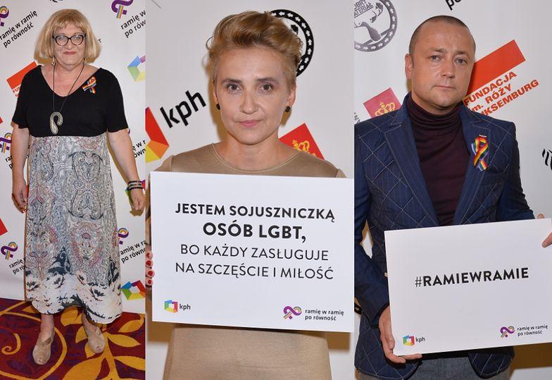 Anna Grodzka, Joanna Scheuring-Wielgus i Czesław Śpiewa