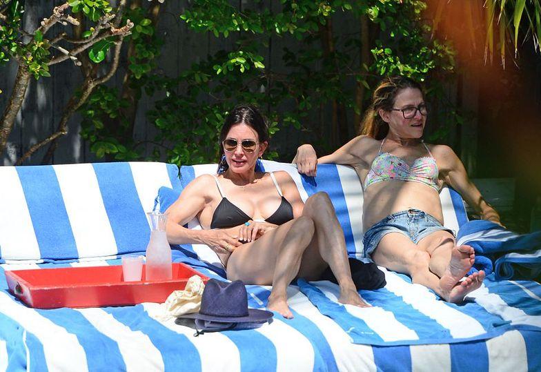 Courtney Cox na plaży w Miami