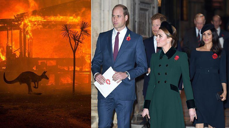 """Sussexowie i Cambridge'owie solidaryzują się z ofiarami pożarów w Australii: """"Jesteśmy zszokowani i głęboko zasmuceni"""""""