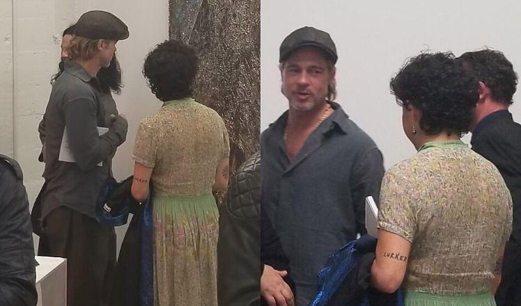Brad Pitt podziwia obrazy i nową wybrankę w muzeum (FOTO)
