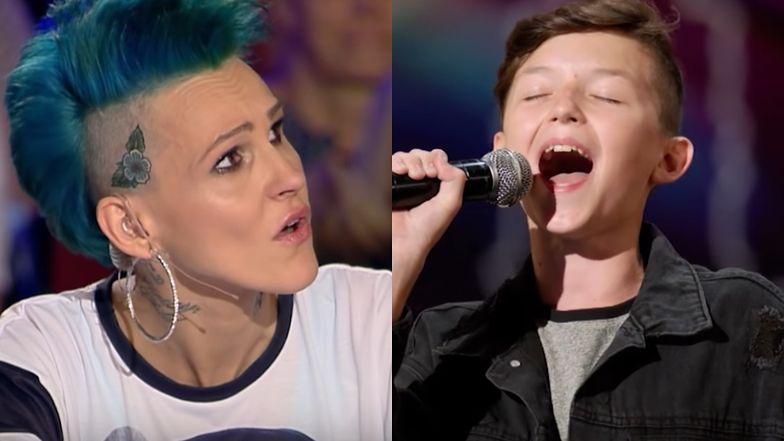 """13-letni Marcin z """"The Voice Kids"""" wystąpił wcześniej w """"Mam Talent"""". Wzruszył Chylińską do łez i nie przeszedł do kolejnego etapu..."""