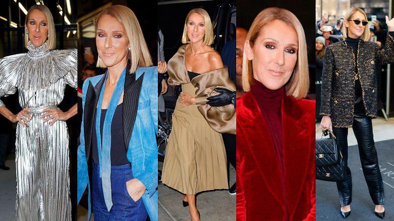 Celine Dion pokazała się w 5 kreacjach tego samego dnia. Ofiara czy ikona mody? (FOTO)