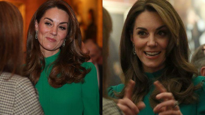 Księżna Kate z uśmiechem na twarzy wita przywódców państw na szczycie NATO w sukience za pięć tysięcy złotych (FOTO)