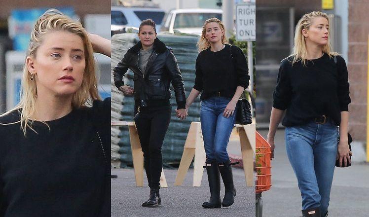 """""""Skromna"""" Amber Heard robi zakupy z ukochaną w Los Angeles. Pasują do siebie? (ZDJĘCIA)"""