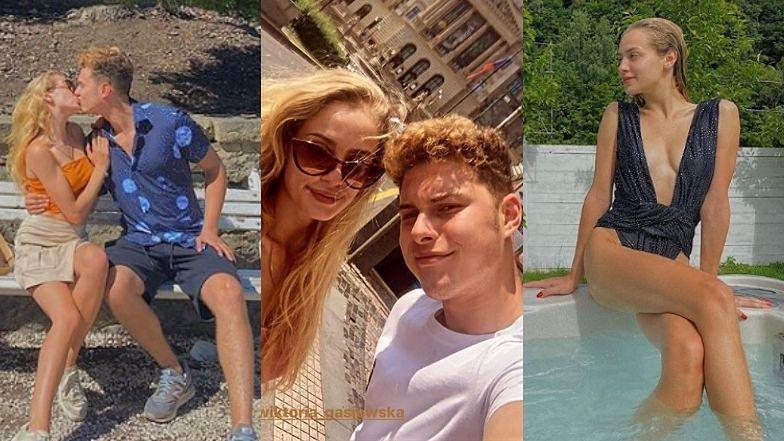 Zakochani Wiktoria Gąsiewska i Adam Zdrójkowski relaksują się na wspólnych wakacjach (ZDJĘCIA)