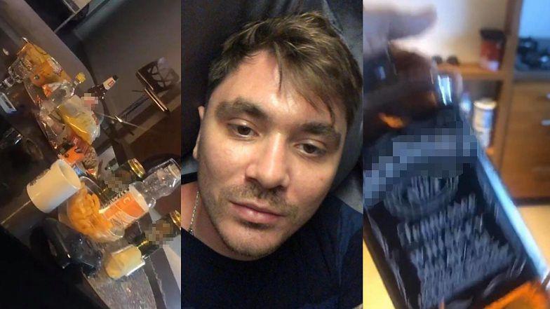 """Rozluźniony Daniel Martyniuk nawołuje do OBALENIA RZĄDU, wymachując butelką whisky i kapciem: """"ZNISZCZYĆ WŁADZĘ RZĄDZĄCĄ"""" (ZDJĘCIA)"""