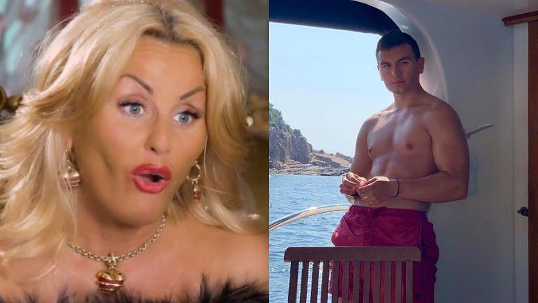 """""""Królowa życia"""" Dagmara Kaźmierska zachwyca się muskulaturą Conanka na jachcie: """"A taki KLUSEK był niedawno"""" (FOTO)"""
