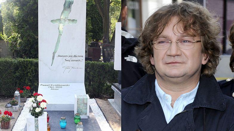Tak wygląda dziś grób Pawła Królikowskiego. Bliscy wybrali wzruszający cytat (ZDJĘCIA)