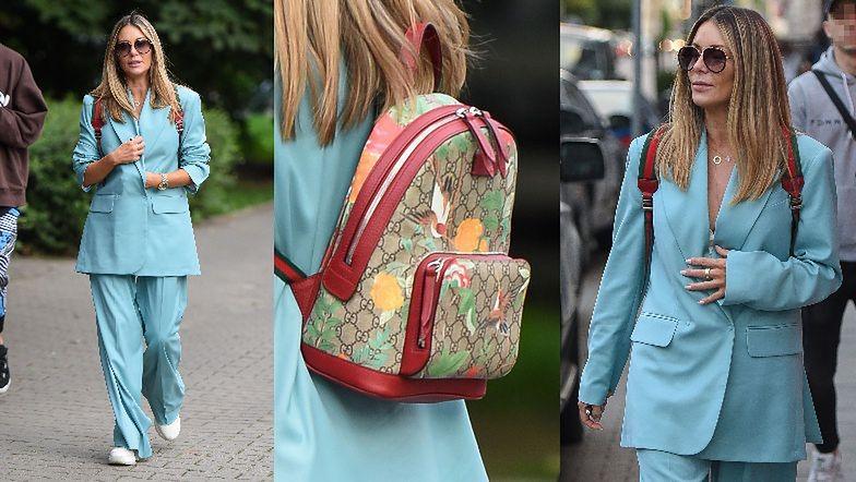Małgorzata Rozenek w obszernym garniturze i z plecaczkiem Gucci za 8 tysięcy przemierza ulice Warszawy (ZDJĘCIA)