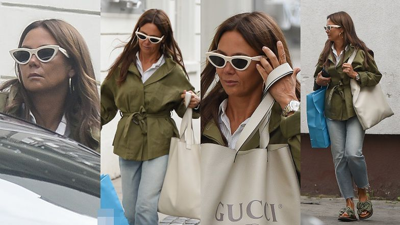 Kinga Rusin szaleje na zakupach ze skórzaną torbą Gucci za 6 tysięcy (ZDJĘCIA)