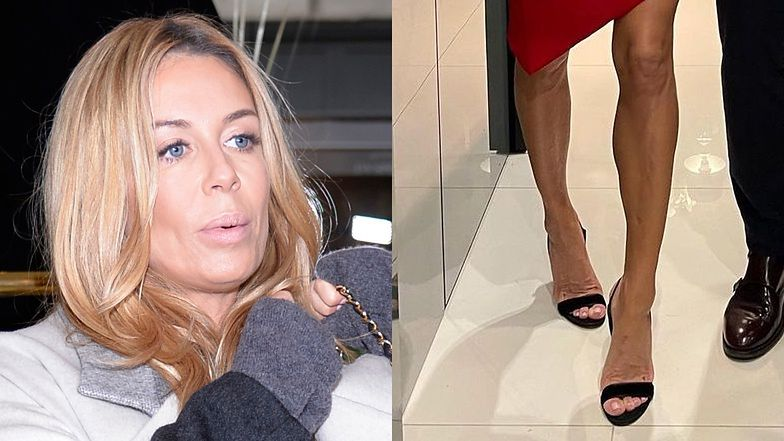 """Małgorzata Rozenek ROBI SZAŁ przy pomocy nóg w czerwonej mini: """"KRZYWE, ale własne!"""""""