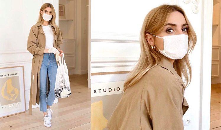 """Kreatywna Kasia Tusk instruuje, jak nosić maseczki: """"Powinny stać się STAŁYM ELEMENTEM naszego wierzchniego stroju"""" (FOTO)"""