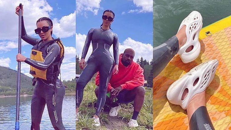 Markotna Kim Kardashian próbuje uciszyć plotki o ROZWODZIE urlopem z Kanye i kosmicznymi butami (ZDJĘCIA)