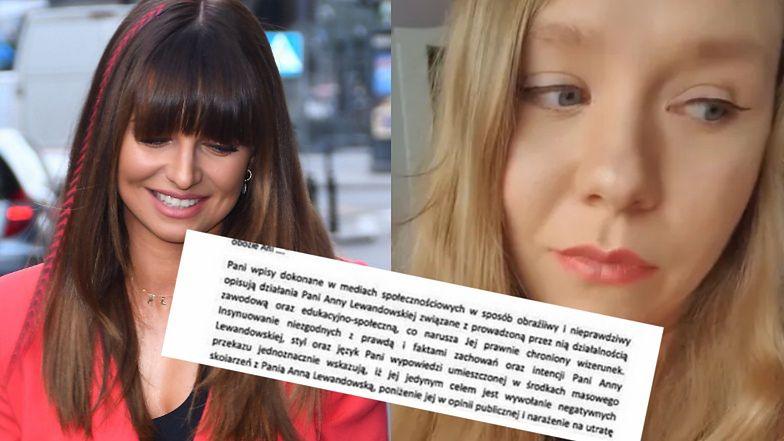 Maja Staśko pokazuje pismo od prawników Anny Lewandowskiej! (FOTO)