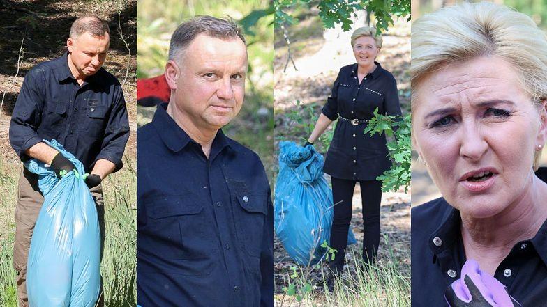 Agata i Andrzej Dudowie w pocie czoła ratują las przed stertami śmieci (ZDJĘCIA)