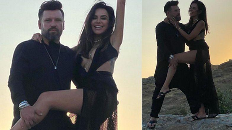 Natalia Siwiec z mężem Mariuszem pozują w klapkach na greckiej skale. Ryzykanci? (FOTO)
