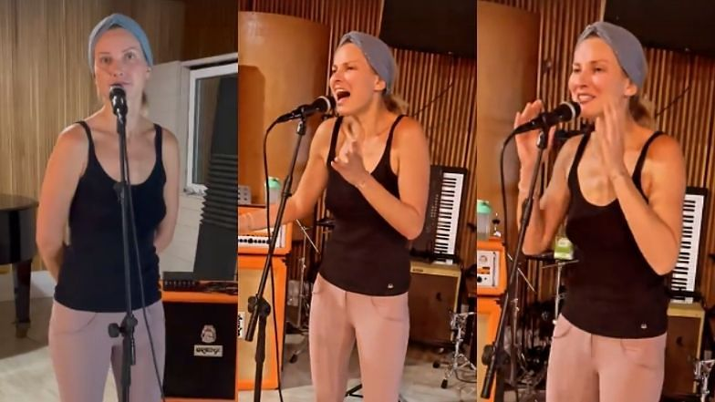 Joanna Moro SZLIFUJE WOKAL przed kolejnym występem. Wzięła na warsztat utwory Marka Grechuty i Edyty Geppert...
